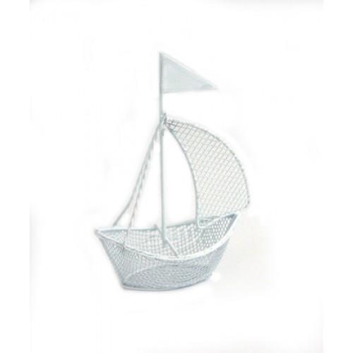 Кораблик белый,10,5 см