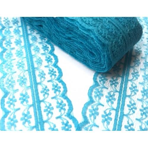 Кружево,цв-винтажный синий ,4,5см,Цена за 1м