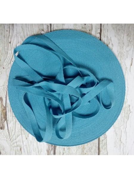 Лента хлопковая( киперная цв-темно-голубой ),10мм,цена за 1 метр