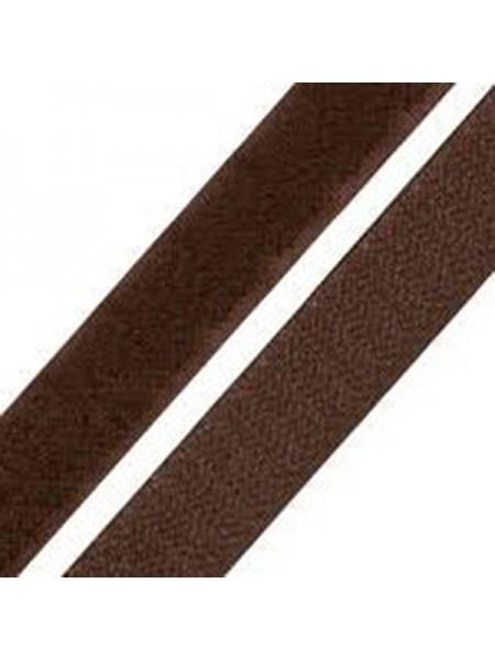 Лента-липучка,коричневая,20мм. цена 50 см
