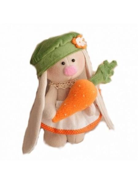 Набор для изготовления текстильной игрушки - Зайка Морковка 20 см,