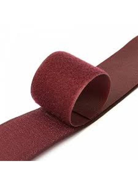 Лента-липучка,бордо,20мм. цена 50 см