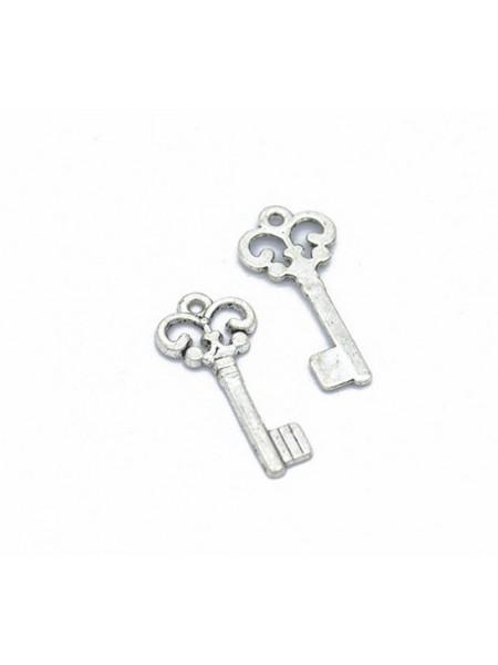 Подвеска ключик простой.цв-серебро