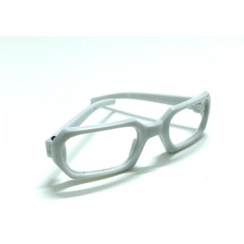 Очки без стекла,прямоугольные,цв. св-серый,7 см