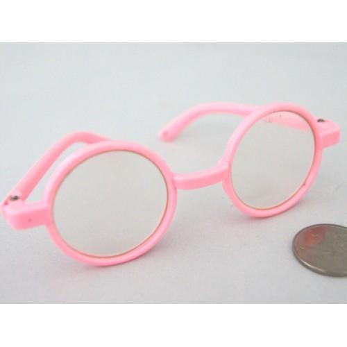 Очки со стеклом(пластик) 8см, розовые