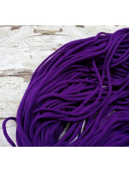 Полиэфирный шнур для вязания,4мм,цв-фиолетово-ягодный,100м