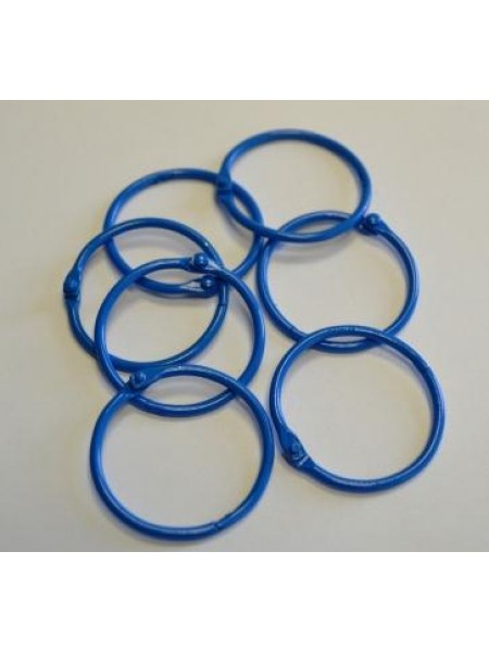 Кольца для альбомов, 2 шт ,синие,30 мм