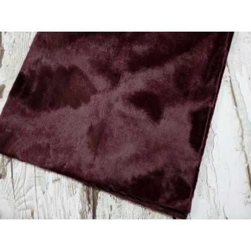 """Вискоза """"Элит"""" фактурная,ворс 6мм (основа х/б )цв-темно-бордовый, 45см*50см, Италия"""