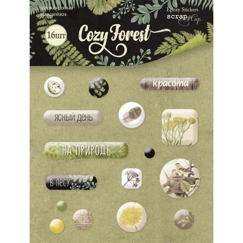 Набор эпоксидных наклеек 16шт от Scrapmir Cozy Forest