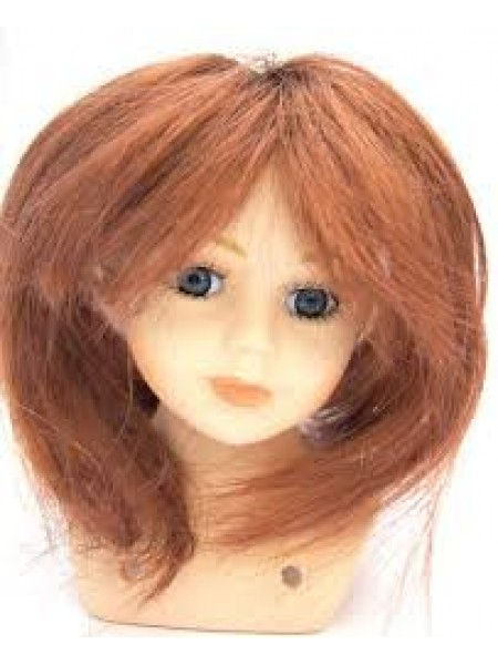 Волосы прямые-(парик)для кукол. цв- каштан