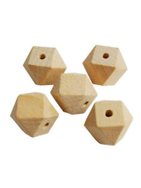 Бусины деревянные-грань,14мм. цена за уп(12шт)