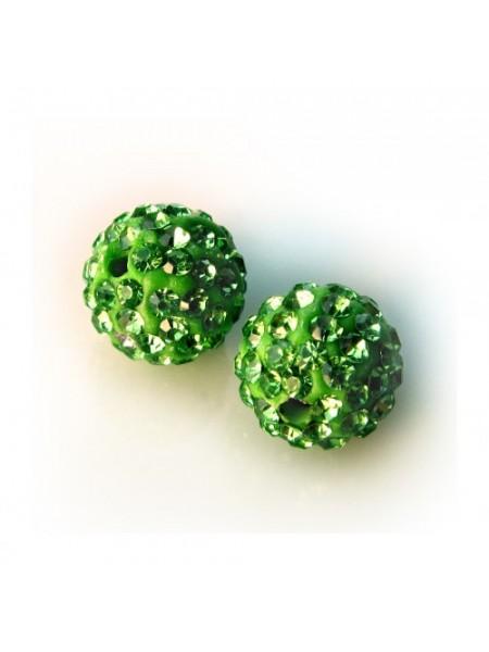 Бусина Шамбала.цв -зелёный.цена за 1 шт
