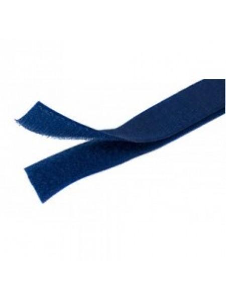 Лента-липучка,темно-синяя,20мм. цена 50 см