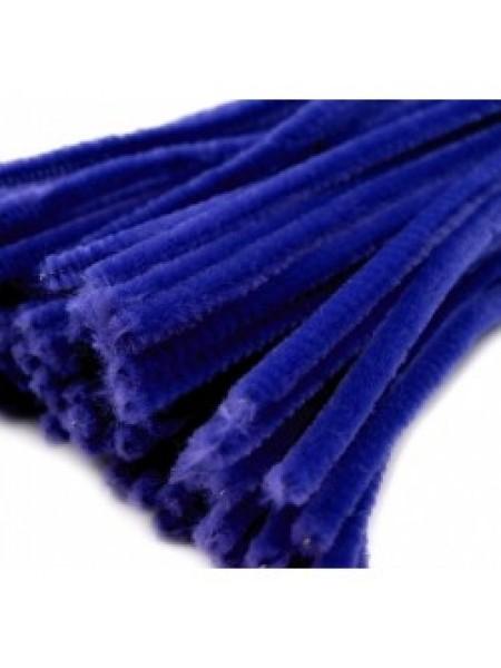 Синельная проволока(шенил)синяя,цена за 10 шт