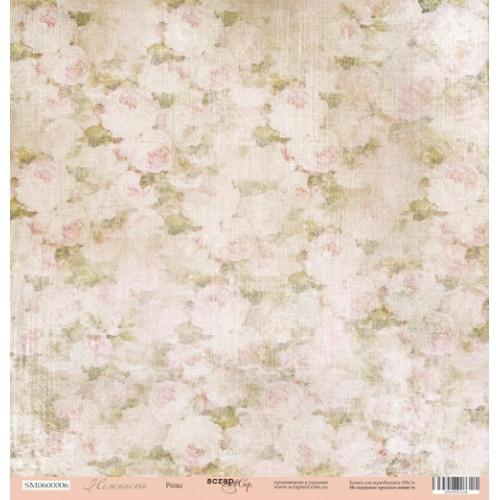 Лист односторонней бумаги 30x30 от Scrapmir Розы из коллекции Нежность