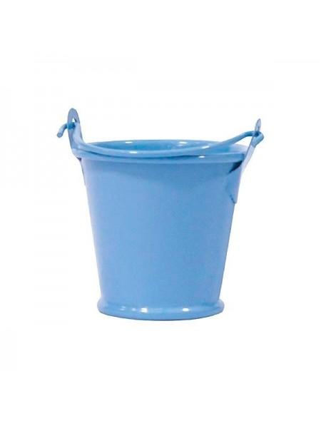 Ведёрко металлическое,цвет  голубой,8см