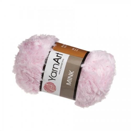Пряжа YARNART-MINK(Минк),имитация меха.цв-светло-розовый,№337