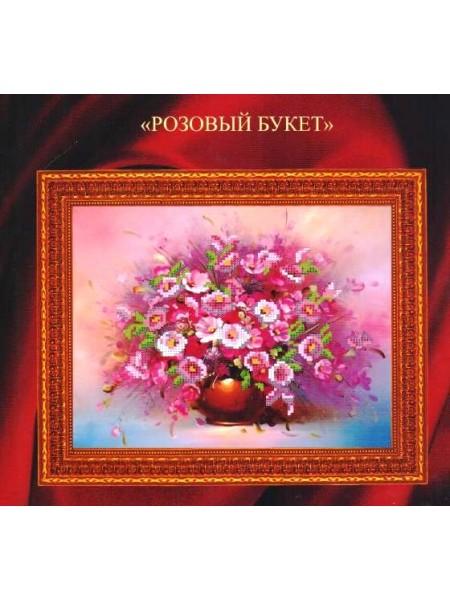 """Набор для вышивки бисером """"Розовый букет""""-МП-035"""