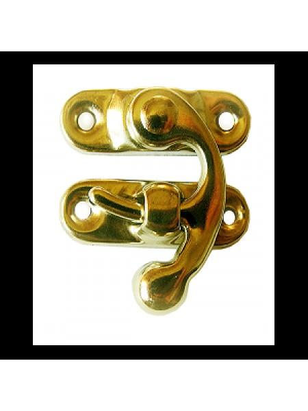 Замок с крючком для  для шкатулки,золото,левый,цена за 1 шт
