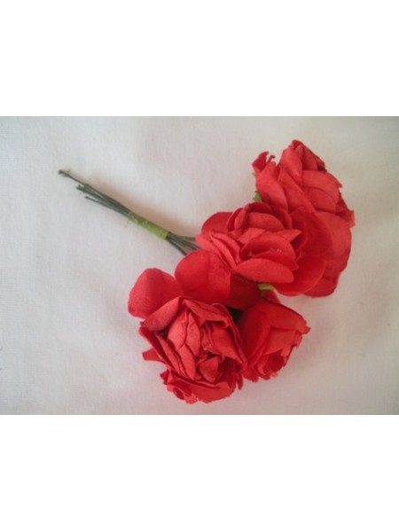 Розочки красные 25мм  6шт