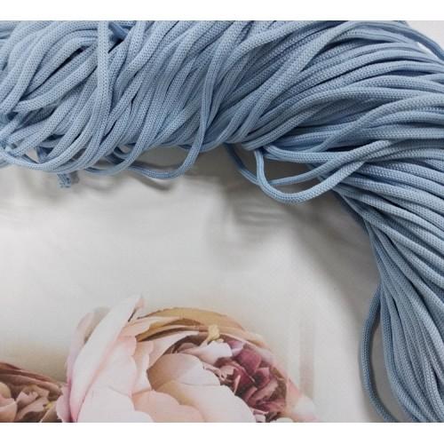 полиэфирный шнур для вязания4ммцв голубой100м рукодельный